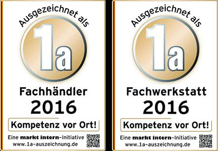 Fachändler und Fachwerkstatt Auszeichnungen